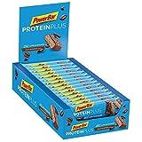 PowerBar Protein Plus Riegel mit nur 107 Kcal - Low Sugar Eiweissriegel, Fitnessriegel mit Ballaststoffen - Chocolate Espresso (30 x 35g)