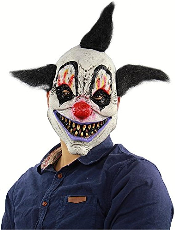 HBWJSH HalloweenHorrorZaubererClownMaske Spuk HausRaumFlucht verkleiden sich LiveShow Scary Head Cover