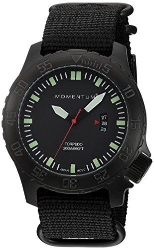 Momentum Herren Datum klassisch Quarz Uhr mit Nylon Armband 1M-DV76B7B