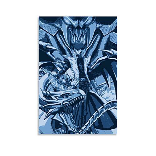 Yu Gi Oh Duel Monsters Seto Kaiba Blue Eyes White Dragon Millennium Puzzle Poster Leinwand Kunstdruck Restaurant Hotel 30 x 45 cm