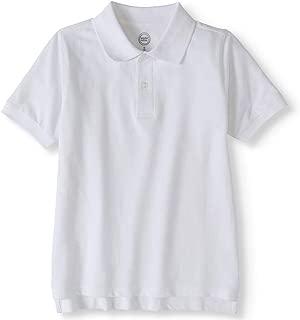 School Uniform White Short Sleeve Jersey Polo Shirt