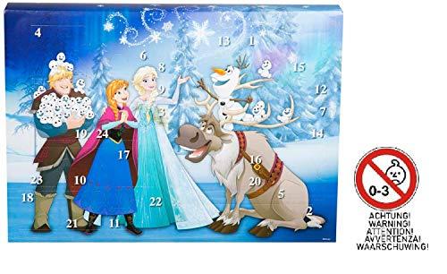 Sambro DFR15-6382 Adventskalender Disney Frozen mit Schreibwaren, kleinen Spielzeugen und Stickern, für Kinder ab 3 Jahre