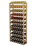 MODO24 Weinregal, Holz, unbehandelt, 72.5 x 25 x 166 cm, 25-Einheiten