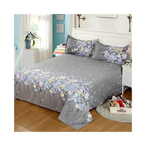 AMDXD Funda de cama de poliéster, con forma de flor gris, lavable a máquina, suave, cómoda y transpirable (1 sábana de 230 x 230 cm)