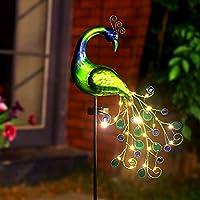 Nan Zai Nan Fang Metal Decorative Waterproof Peacock Solar Stake Light