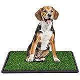 COSTWAY Hundeklo mit Rasen, Hundewelpen-Töpfchenauflage Hundetoilette Welpentoilette 3-Lagen-Trainingsunterlage Tierklo (76x51cm)