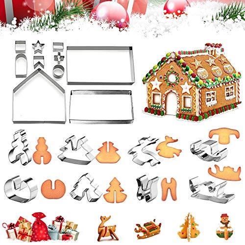 Hornear Galletas Moldes,moldes para Galletas de Navidad,Navidad Moldes para Galletas,Moldes de Galletas Cortador,moldes galletas infantiles animals,moldes 3D de Galletas de Acero Inoxidable (I)