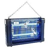 Gardigo - Lampara Matamoscas Electrico; Luz Ultravioleta UV 16 W Anti-Polillas, Insectos, Zancudos, Moscas y mas; Lampara Trampa Anti-Mosquitos; Bandeja para recoger Insectos; Cadena de Suspensión