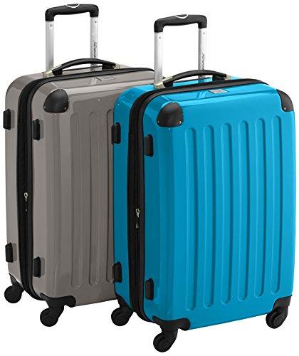 HAUPTSTADTKOFFER - Alex - 2er Koffer-Set Hartschale glänzend, 65 cm, 74 Liter, Graphit-Blau