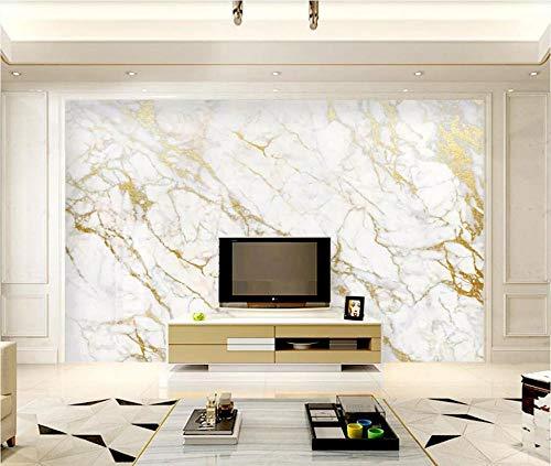 Fototapete 3D Tapete Gold Seide Jazz Weißer Marmor 3D VliesTapete Wandbilder Wohnzimmer Moderne Wanddeko Tapeten - 150x105cm
