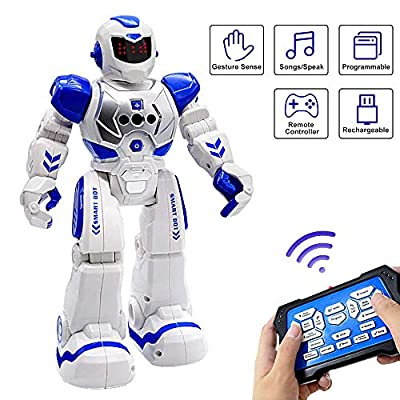 Robots Toy for Kids, WEEFEESTAR RC Programmable Robotic for Boy Toys with Infared Gesture Sensing, Dancing, Singing, Interactive Early Educational Kids Robot Toys Birthday Gift for Children