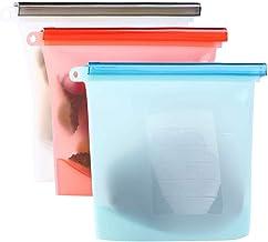 SAYGOGO Silicone fresh-keeping bag, vacuum sealed bag, food frozen storage bag, reusable, sealed and kept, keep your food ...
