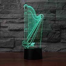 RJGOPL 3D LED Creative Night Light Usb Hard Modeling Touch Desk Lamp Children Bedroom Musical Instruments Lamp Lighting fo...