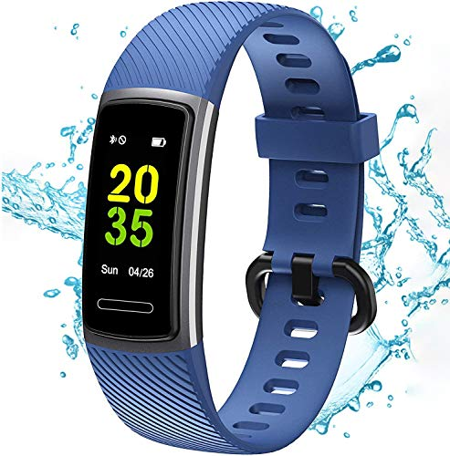 BEITEPACK High-End Fitness Trackers HR, Activity Trackers Health Exercise Watch with Heart Rate and Sleep Monitor, Smart Band Calorie Counter, Step Counter, Pedometer Walking for Men & Women
