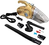 JackshowShope 4 in 1 Car Vacuum Cleaner Wet Dry High Power with LED Light, for Home Car Cleaning Handheld Car Inflatable Pump Air Compressor