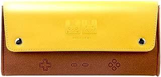 Pikachu Nintendo Switch Carrying Case 5 Game Cartridges Leather Pokemon Travel Case Crossbody Portable Pouch RegisBox