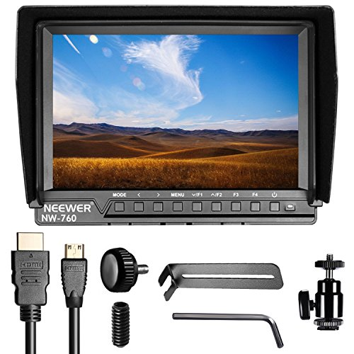 Neewer NW760 Ultra HD 7 Inches 1920x1200 IPS Screen Camera Field Monitor with 2 Packs F550 Replacement Battery and 2 Pieces USB Battery Charger for Sony Canon Nikon Olympus Pentax Panasonic