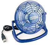 mumbi USB Ventilator - Mini USB Fan für den Schreibtisch mit An/Aus-Schalter in blau