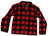 At The Buzzer 98500-RED-4-5 Polar Fleece Boys Jacket - Buffalo Plaid