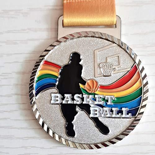 Eeng La Medalla de Color Dunk + Cinta de Color es Adecuada para Todo Tipo de Juegos de Baloncesto.