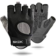 【Anti-slip and Full Palm Protection】Faveolate non-Slip silica gel palm with right amount of foam padding cover the palms for the best grip and maximum cushion, effectively preventing hands from painful callus and blisters. 【Friendly Design and Great ...