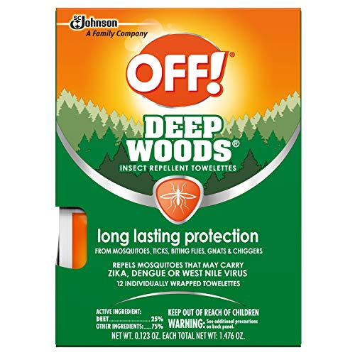 OFF! Deep Woods Towelettes, 12 CT (Pack of 3)