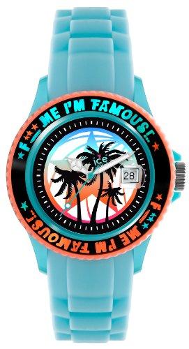 Ice-Watch Unisex-Armbanduhr Medium F*** Me I'm Famous türkis palm  FM.SS.TEP.U.S.11
