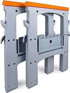 Amazon Basic 折疊鋸軟管 折疊式 工作臺 工作馬 2臺1組 載量408.2千克