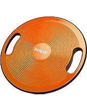 POWRX balance board inclusief workout poster, anti-slip balance apparatuur Ø 39cm met handvat, sportuitrusting fitnessapparatuur voor proprioceptieve training en fysiotherapie