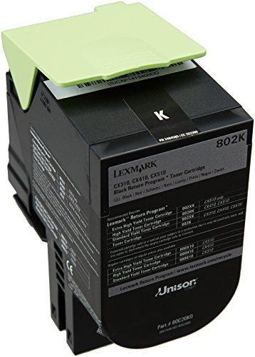 Lexmark 80C20K0 - Cartucho tóner para impresoras láser, color negro