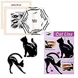 Conjunto Modelo de Eyeliner para el Eye-Liner Parfait por Blissany, Cat ojos, ojos Stencil 16 Styles, Double Wing, Extravagant Cat, Arabic Eyeliner de 2 piezas