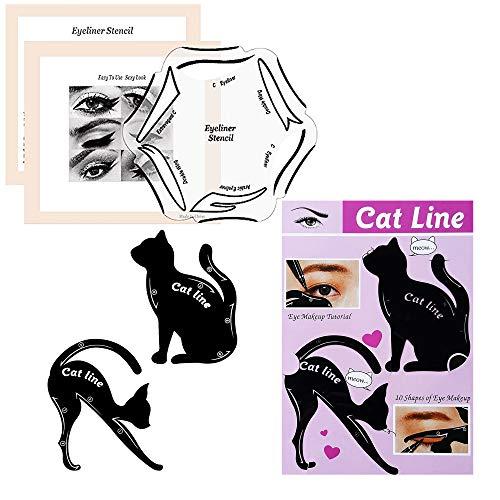 Eyeliner Schablonen Set by BLISSANY, 22 Styles - immer der perfekte Lidstrich von Cat Eyeliner, Extravagant, Classic Eyeliner, Double Wing bis zu Fish Tail Eyeliner (2 Stück)