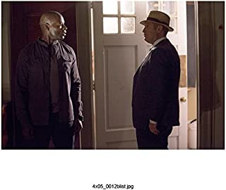 The Blacklist (TV Series 2013 - ) 8 Inch x10 Inch James Spader Blue Suit & Tan Hat Standing Just Inside Door w/Hisham Tawfiq kn