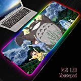 Anime Mein Nachbar Totoro Computer Gaming Mauspad Große Beleuchtung Mausmatte RGB Mauspad...