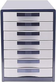 ZDAMN Armoire de Bureau Classeur 7 Couches Type de tiroir de Verrouillage Classeur métal Bureau Fichier de données Finitio...