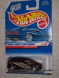 1998 First Editions #4 Dodge Caravan Razor Wheels Blue Card #633 Collectible Collector Car Mattel Hot Wheels