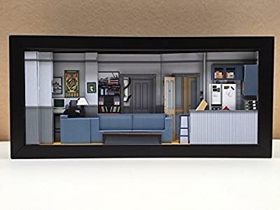 Excellent Mixed Media Wall Art Seinfeld Apartment set shadowbox diorama