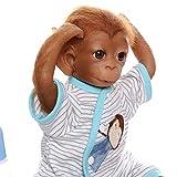 iCradle Reborn Muñecos Bebe Reborn Niña Mono Bebé 18 Pulgadas 45cm Silicona...