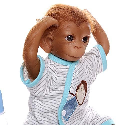 iCradle Reborn Muñecos Bebe Reborn Niña Mono Bebé 18 Pulgadas 45cm Silicona Muñeca Mono Bebe...
