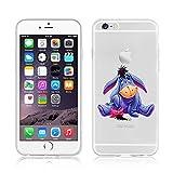 Étui souple Disney Winnie l'Ourson et amis, en TPU, pour Apple iPhone 6/6S et 6+/6+S, plastique, Eeyore, APPLE IPHONE 6/6S