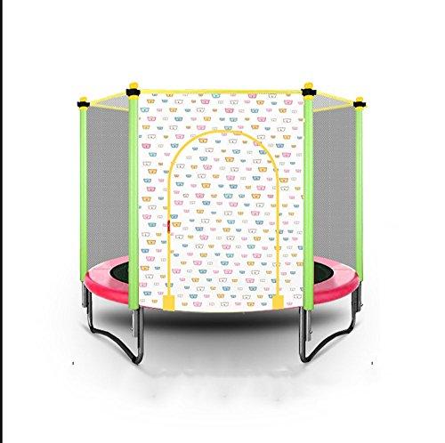 Kindertrampoline, opvouwbaar huis binnen trampoline, rond buiten met netto veiligheid en fitness 150 cm