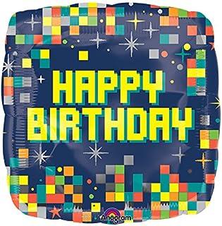 Burton & Burton Happy Birthday Pixels Foil/Mylar Balloon