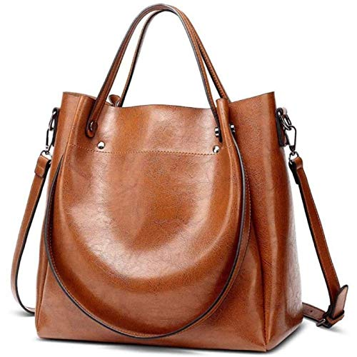ANZRY Women S Bags, Leather Women S Bags, Simple Messenger Bags, Handbags, Large Capacity