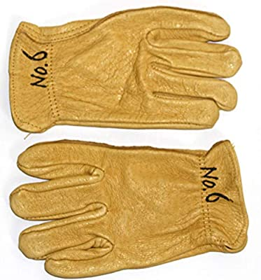 GnarPack No.6 Little Kids and Children Golden Pigskin Leather Work and Garden Glove. Hand Protection for Boys &Girls. Approx Age Fitting 3-6 yrs (1)