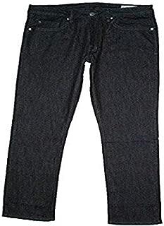 Mens Driven-X Basic Straight Stretch Jeans (32x34, Rinsed Indigo)