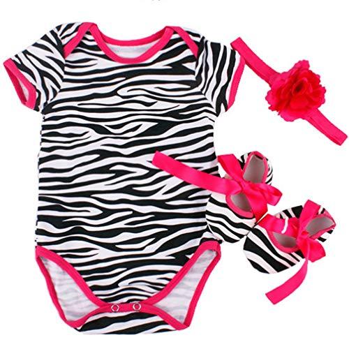 Een set van 22 inch Kinderen Veranderende Poppenkleertjes Tutu Jumpsuit Zebra Patroon Klimpak