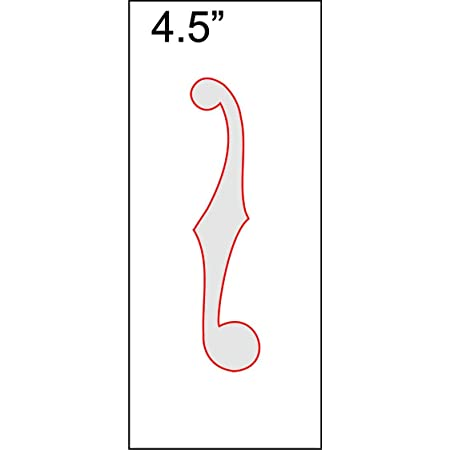 """F-Hole Routing Template - 4.5"""" Sharp"""