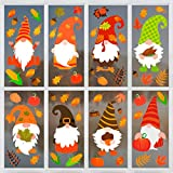 BLUELVES Adesivi del Ringraziamento, Fogli Autunnali Adesivi del Ringraziamento, Fall Autunno Foglie Finestra Adaggrappati Ringraziamento Acero Decorazioni Autunno Finestra Sticker Decals Party Decor