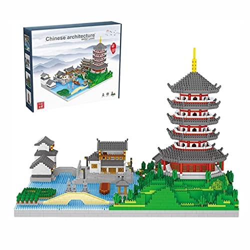 ZDVHM Bloques de construcción Oeste Lago DIY Micro Bloques de construcción 7000+ PCS 3D Puzzle Modelo Juguetes Cumpleaños Creativo Regalos Juguetes educativos para niños Niños