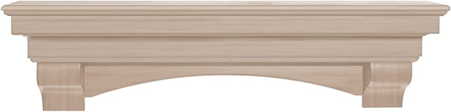 Pearl Mantels 495-60 Auburn Arched 60-Inch Wood Fireplace Mantel Shelf, Unfinished
